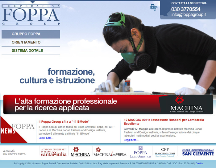 Cliente: Foppa Group <br /><br /> <a href='http://www.foppagroup.it'>www.foppagroup.it</a>